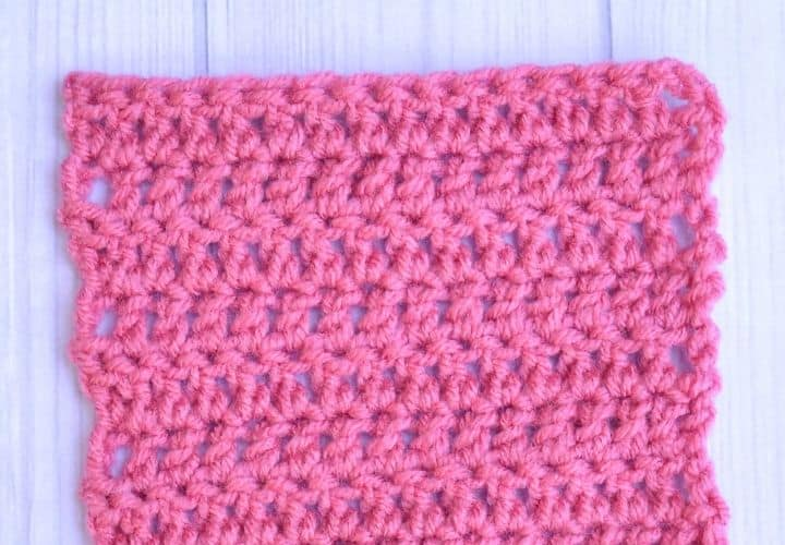 Swatch of double crochet stitches