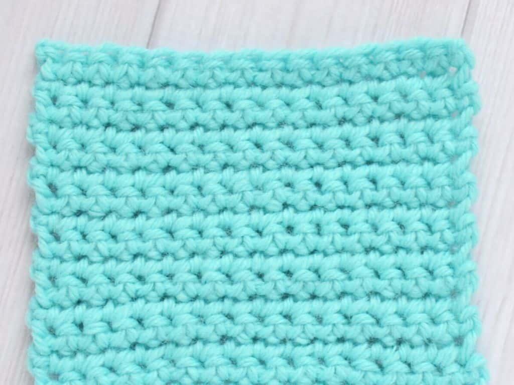 Swatch of single crochet stitches