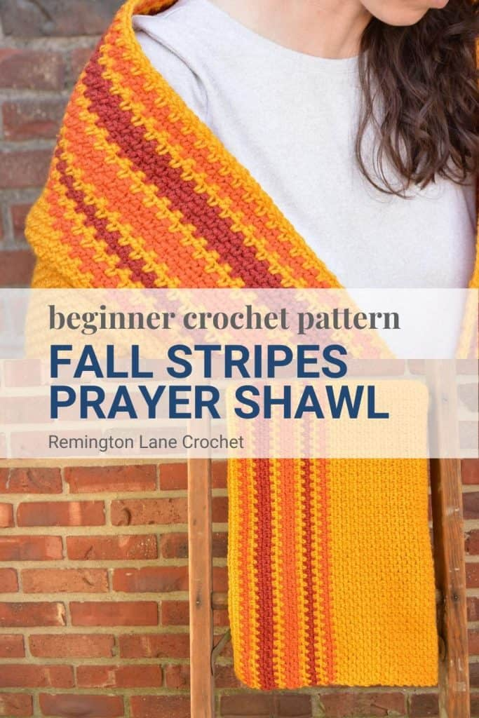 Pinterest image for saving this prayer shawl pattern for later.