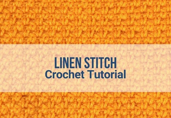 Crochet linen stitch in marigold yarn