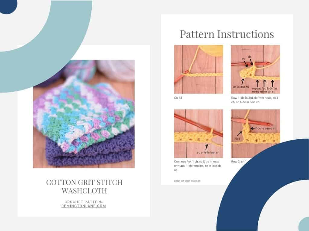 Preview of two pages of the PDF download of this pattern
