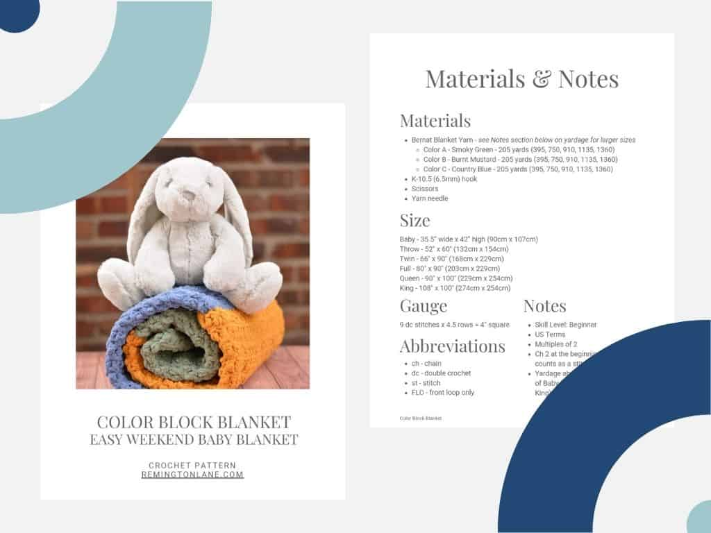 Sneak peek at premium PDF crochet pattern available for purchase