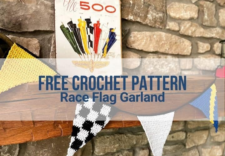 Featured image with title overlay on spiral view of the race flag garland